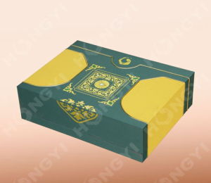 Green/Yellow Coated Paper Gift Box for Perfume Packaging (HYG016)