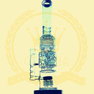 Corona Glass Tobacco Recycler Tall Color Bowl Glass Craft Ashtray Glass Pipes Heady Beaker Bubble Glass Water Pipe pictures & photos