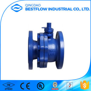 Dn65 Cast Iron Flanged Ends Ball Valve pictures & photos