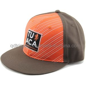 Flat Bill Print Applique Embroidery Sport Baseball Cap (TMFL1300-2) pictures & photos