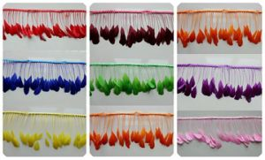High Quality Colorful Feather Fringe for Decorations pictures & photos