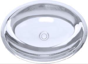 Oval Stainless Steel Bathroom Sink, Lavatory Sink (T18)