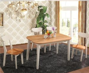 Modern Simple Solidwood Furniture Dining Table and Chairs Set