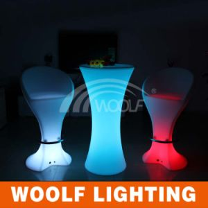 2016 New Product Lighting Furniture LED Cocktail Table