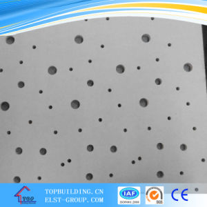 Perforated PVC Gypsum Ceiling Tile/PVC Acoustic Gypsum Ceiling Tile pictures & photos