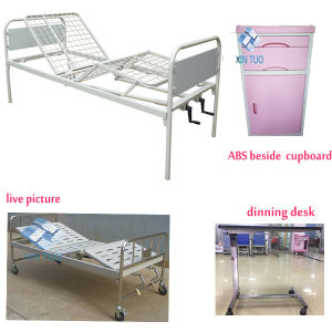 Adjustable Hospital Beds Medical Equipment Furniture Two-Cranks Manual pictures & photos