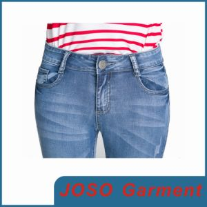 Lady Demin Cropped Jeans (JC1052) pictures & photos