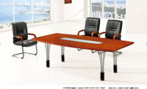 China Feet Modern Teak Wood Office Conference Table With Metal - 7 foot conference table