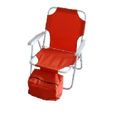 Armrest Folding Beach Chair with Cooler Bag (MW11012) pictures & photos