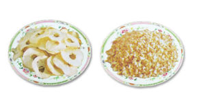 Dried Apple Dice, Apple Ring And Apple Powder