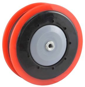 PU Shopping Trolley Caster (One Groove) - Red pictures & photos