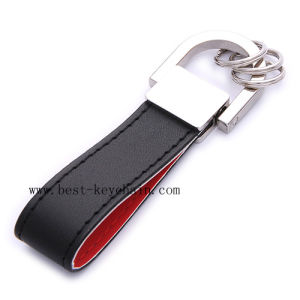Canada Promotion PU Fashionable Design Leather Keyring (BK20969A) pictures & photos