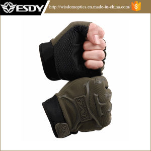 Army Green Chepaer Fingerless Airsoft Gloves pictures & photos