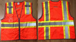 Safety Vest 100%Polyester Knitting Fabric and Mesh Fabric pictures & photos