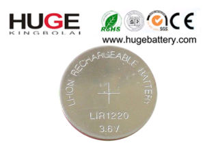 3.6V Lithium Rechargeable Button Cell Lir1220 pictures & photos