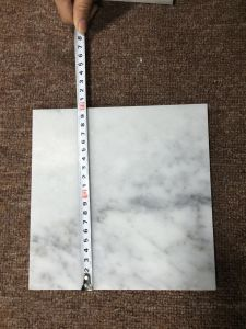 China Carrara White CuttoSize Marble Tile China Marble Tile Cut - Carrara marble tile sizes