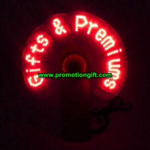 USB Flashing Message Fan pictures & photos