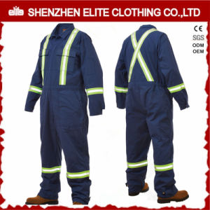 3m Reflective 200GSM 100% Cotton Blue Coveralls (ELTCVJ-70) pictures & photos