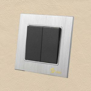 Ce/BV/Tuvcertified EU Silver Brushed Aluminum Wall Switch pictures & photos