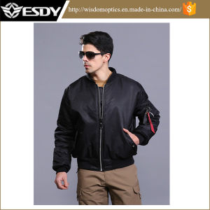 American Bomber Jacket Coat Both Sides Wear Windproof Men′s Warm Coat pictures & photos