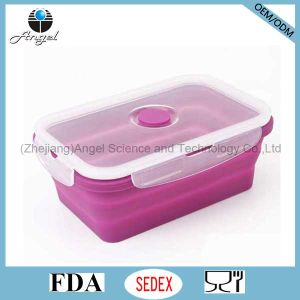 750ml Collapsible Silicone Food Bento Box FDA Approved Sfb02