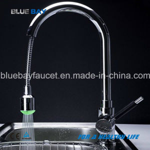 Led Pull Out Spray Chrome Sink Washing Tap Kitchen Faucet Mixer