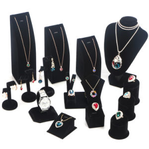 Custom Velvet Jewelry Set Display Stand pictures & photos