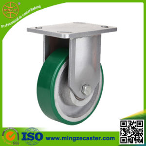 Industrial Polyurethane Fixed Caster Wheels pictures & photos
