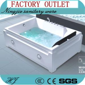 Factory Outlet Sanitary Ware Acrylic Jacuzzi Massage Bathtub (517)
