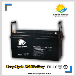 12V-200ah Deep Cycle AGM Solar Battery for Solar Power System