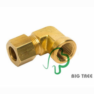 Brass Compression Tube Connector (Elbow) 1/2NPT pictures & photos