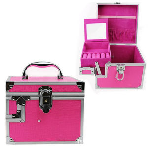 Aluminium Jewelry Box with Mirror pictures & photos
