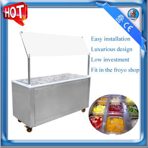 Frozen Yogurt Shop Topping Bar With Refrigerator