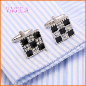 VAGULA Rhodium Plated Men′s New Arrival Fashion Wedding Cuffs pictures & photos