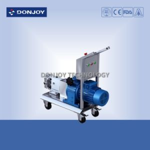 Ss 304 Mobile Lobe Pump with External Safety Valve ABB Motor pictures & photos