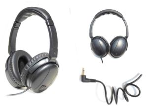 Noise Cancelling Headset with Green Recycle 1.5V Battary