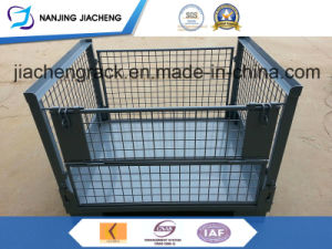 Warehouse Heavy Duty Powder Coated Foldable Mesh Container pictures & photos