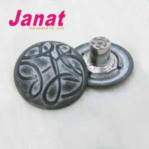 Fashion Alloy Jeans Button with up Logo