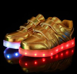 Fashion PU Leather USB LED Light Shoes pictures & photos