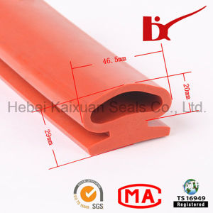 Competitive Heat Resistant Silicone Rubber Strips with SGS Certification pictures & photos