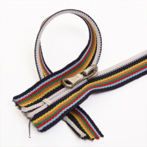 Close-End Nylon Zipper with Colored Waven Tape (5#) pictures & photos