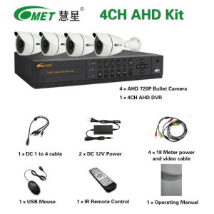 Cheaper 4CH IR Security CCTV Digital Camera System Ahd DVR Kits pictures & photos