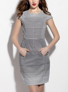 Summer Women Fashion Plaid Dress