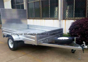 Galvanized Box Trailer with Alumiunm Ramp pictures & photos
