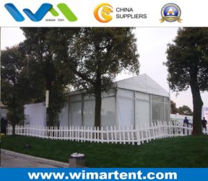 White Party Tent with Glass Wall