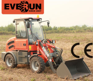 Everun 800kg Chinese Mini Wheel Loader with Front End Shovel pictures & photos