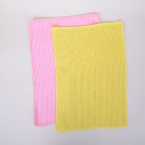 Multicolor, Grid, Ultra-Fine Fiber Cleaning Cloth
