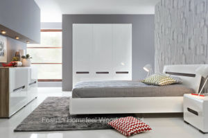 New Design White High Gloss Bedroom Set (HF-EY066) pictures & photos