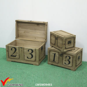 Lock Vintage Rustic Handmade Wooden Chest pictures & photos