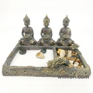 Antique Resting Buddha Zen Garden Statue For Home Decoration